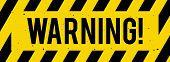 Black And Yellow Warning Sign, Caution, Vector Illustration poster