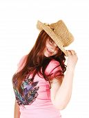 Girl With Straw Hat.