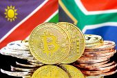 Concept For Investors In Cryptocurrency And Blockchain Technology In The Namibia And South Africa. B poster
