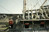 pic of galleon  - Detail of a Spanish galleon with guns - JPG