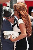 LOS ANGELES - JUL 10: Charlie Sheen, Perla (wife of Slash) at a ceremony where Slash is honored with