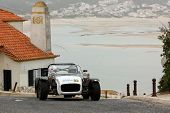 Foz Do Arelho, Portugal - May 13: Bruno Coutinho Drives A Catheram Seven During Rally Sprint Foz Do