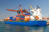 stock photo of ship  - Container Ship from Haydarpasa Port - JPG