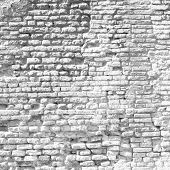 High resolution concept or conceptual old vintage white brick wall background pattern.A textured sur