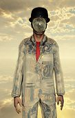stock photo of mystique  - Metallic man with face obscure - JPG