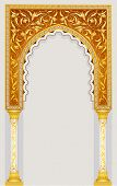 image of arch  - High detailed islamic art arch - JPG