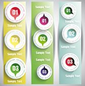 Banners with numbers in the circles.Design template. can be used for infographics. numbered banners.