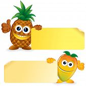 image of manila paper  - Pineapple and Honey Mango - JPG