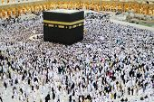 foto of kaaba  - Muslims from all around the world praying in the Kaaba at Makkah - JPG