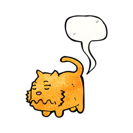 stock photo of fart  - cartoon farting cat - JPG