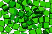 pic of thermoplastics  - Isolated green transparent polymer resin for background - JPG