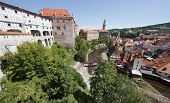 Cesky Krumlov - August 21, 2012: The Castle And City. The Castle And City Of Cesky Krumlov Is Saved