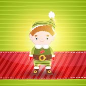 picture of elf  - Christmas cute small elf - JPG