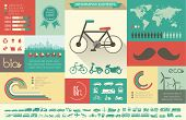 stock photo of scooter  - Flat Transportation Infographic Elements plus Icon Set - JPG