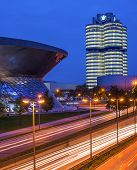 MUNICH - SEPTEMBER 30: BMW Headquarters september 30, 2013 in Munich, Germany. BMW is part of the