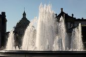 image of copenhagen  - Fountains in front of Amalienborg Palace in Copenhagen Denmark - JPG