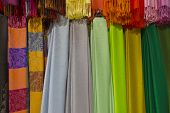 Colorful Hanging Scarves