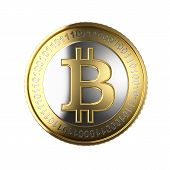 picture of bit coin  - Golden Bitcoin cryptography digital currency coins  - JPG