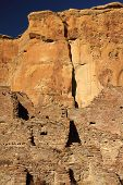 stock photo of pueblo  - Pueblo Bonito Ruins in Chaco Culture National Historical Park, New Mexico