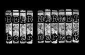 stock photo of stock market crash  - Bear market concept for stock market crash - JPG