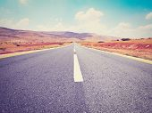 image of samaria  - Asphalt Road in Sand Hills of Samaria Photo Filter - JPG