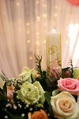 image of heliotrope  - wedding decorations with orchids - JPG