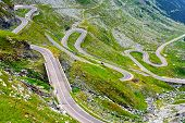 pic of avalanche  - Transfagarasan mountain road in Romanian Carpathians - JPG