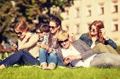 stock photo of teenagers  - education - JPG