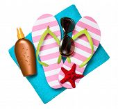 picture of sun tan lotion  - Beach accessories - JPG