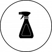 picture of trigger sprayer bottle  - trigger sprayer bottle symbol - JPG