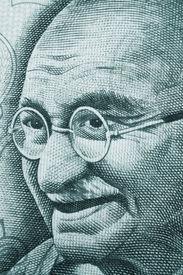 image of gandhi  - Mahatma Gandhi portrait on rupee note - JPG