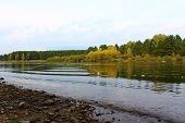 stock photo of kan  - Riverbanks Kahn autumn - JPG