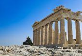 image of parthenon  - Parthenon temple in Acropolis at Athens - JPG