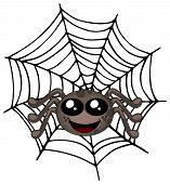 Cute spider drawing