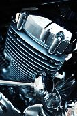 pic of exhaust pipes  - Motorcycle engine - JPG