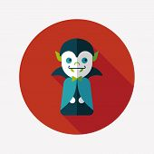 pic of inhumane  - Vampire Flat Icon With Long Shadow - JPG
