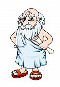 stock photo of philosopher  - Ancient greek philosopher in cartoon style - JPG