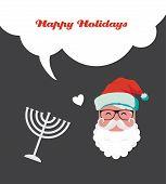 picture of menorah  - happy Hanukkah and happy holidays - JPG