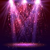 stock photo of stage decoration  - Stage spotlights and sparkles - JPG