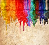 image from color and texture background series (melted coloring crayons) good for back to school th poster