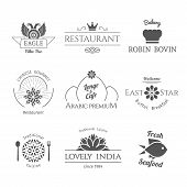 pic of thai food  - Asian isolated food logo templates set - JPG