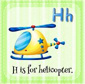 image of helicopters  - H is for helicopter - JPG