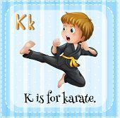 image of karate kid  - Alphabet K is for karate - JPG