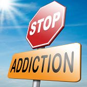 image of addict  - stop addiction prevention and rehabilitation of alcohol drug pain killer and other addicts - JPG