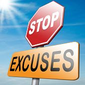 stock photo of tell lies  - no excuses stop telling lies take your responsibility stop lying - JPG