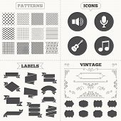 pic of musical symbol  - Seamless patterns - JPG
