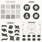 pic of ampersand  - Seamless patterns - JPG