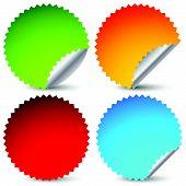 pic of starburst  - 4 different sticker starburst shape set - JPG