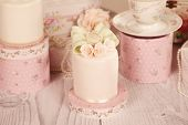 foto of ombres  - Capture of delicious mini cakes with icing - JPG