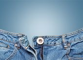 stock photo of denim jeans  - Jeans zippe denim unzippe button sensuality opening - JPG